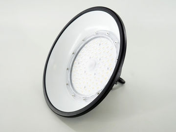 100W UFO LED High Bay Lights مع غطاء مقاوم للوهج 150LM / W Beam 110 °